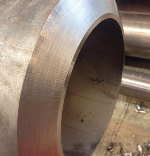 Pipe after beveling