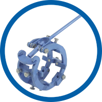 Mechanical Cage Pipe Clamps - heavy version