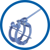 Mechanical Cage Pipe Clamps -  light version