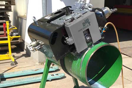 Pipe Cutting and Beveling Machine application