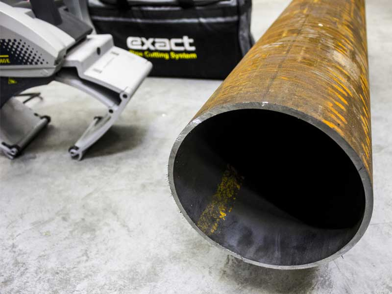 Application cutting steel pipe
