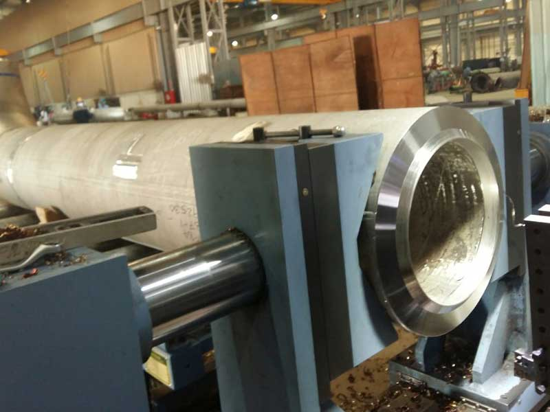Application pipe chamfering