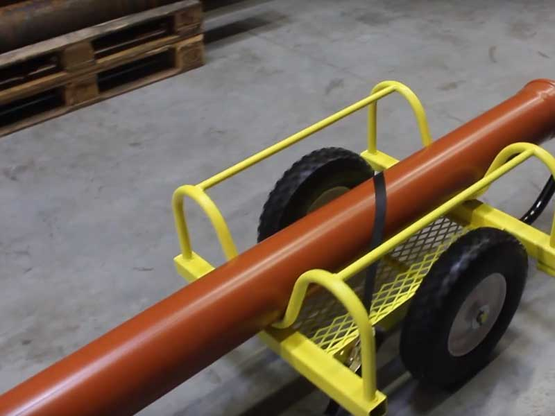 Application pipe transport